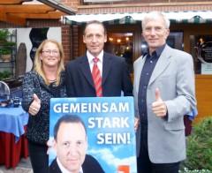 Katrin Budde, Wolfgang Zahn und Norbert Bischoff